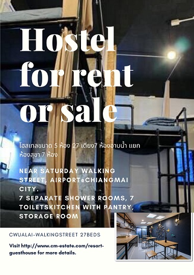 Hostel.chiangmai.city for sale,Thailand